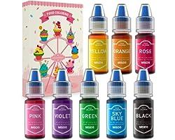 Colorante Alimentario Set 8 Colores Abree colorantes alimentarios reposteria Liquido Food Colouring Alto Concentrado para Col