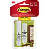 Command 17209 Fotomontagestrips, Ophangen Zonder Fotohaken, Zonder Lijmresten Te Verwijderen, Multi Pack (4 x 2 Strips Maat M