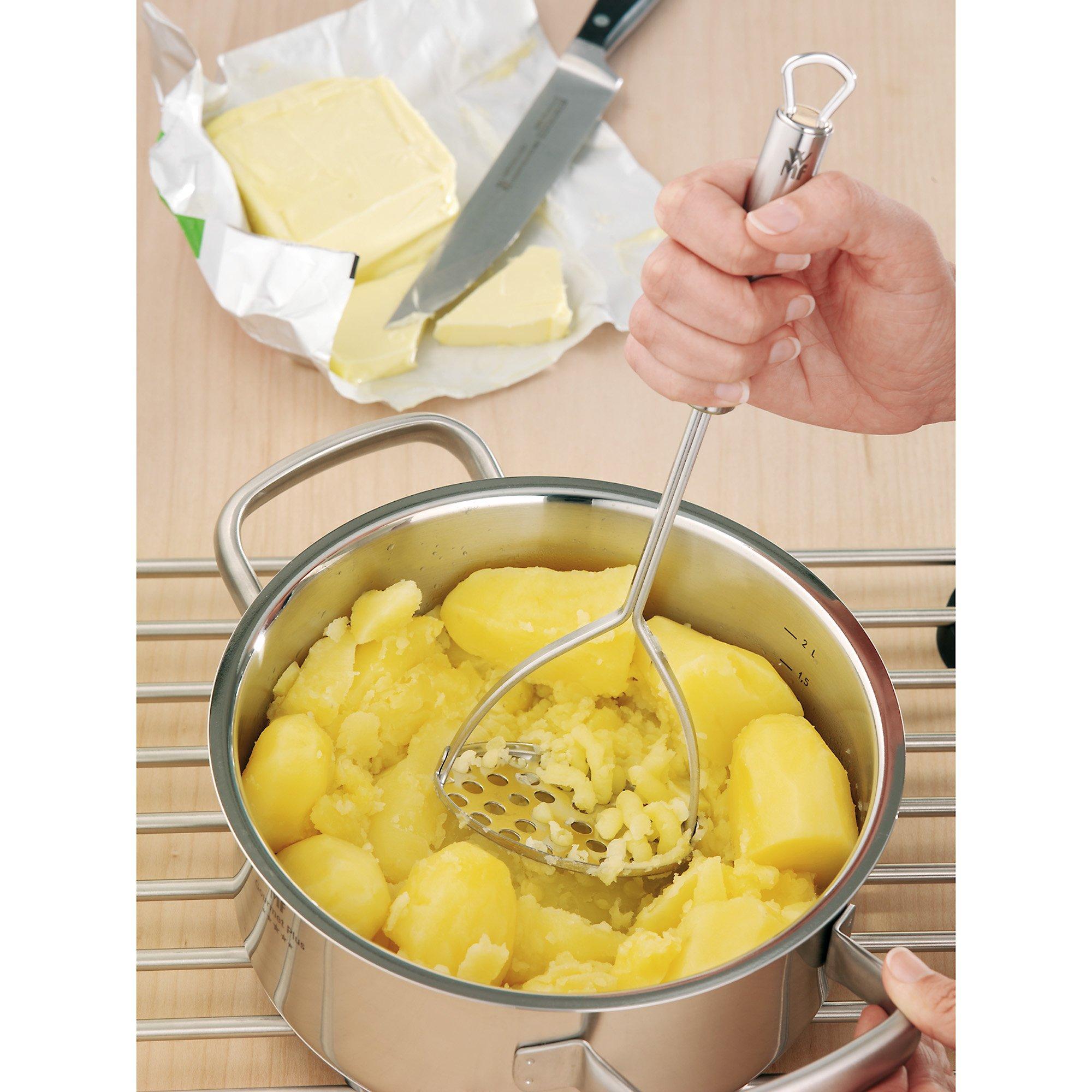 Cromargan Edelstahl teilmattiert WMF Profi Plus Kartoffelstampfer 28,5 cm spü