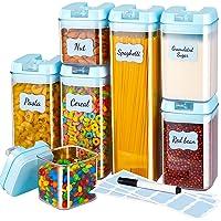 Gesentur Boîte de Rangement Plastique Cuisine Lot de 7, Boîte de Conservation Hermetiques Transparent Alimentaires avec…