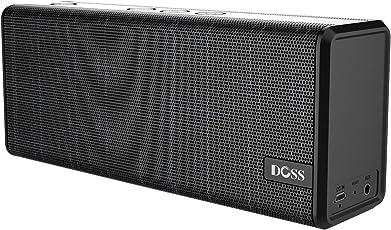 Bluetooth Lautsprecher DOSS SoundBox Color drahtloser Bluetooth 4.0 Lautsprecherbox mit 12W Stereo Sound und hervorragendem Bass 12 Stunden Spielzeit für iPhone, iPad, Tablet, und andere Android Geräte[Schwarz]