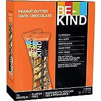 BE-KIND Snack al gusto di Burro d'Arachidi e Cioccolato Fondente -Barretta Senza Glutine - 12 barrette x40g