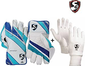 SG Club Keeping Gloves Combo - Men's (SG Club Wicket Keeping Gloves ,Men's + SG Club Inner Gloves, Men's)
