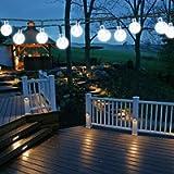 Solar Garden Lights Outdoor, 50 LED 7M/24Ft Solar String Lights Waterproof 8 Modes Indoor/Outdoor Fairy Lights Globe for…