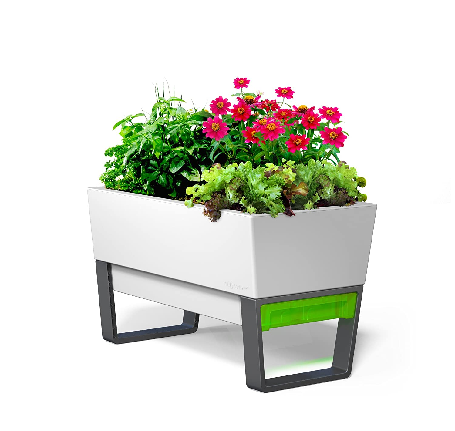 The big list of self watering planters for stylish gardening anywhere - Glowpear Urban Garden Self Watering Planter Amazon Co Uk Garden Outdoors