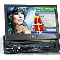 "XOMAX XM-VN745 Autoradio mit Mirrorlink I GPS Navigation I Bluetooth I 7"" / 18 cm Touchscreen Bildschirm I RDS, USB, AUX…"