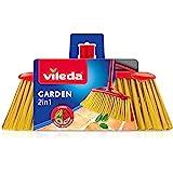 Vileda Garden Balai d'extérieur 2 en 1 avec Deux Types de Fibres pour Jardin, Feuilles, Galets, Fibres en Pet recyclées, 17 x