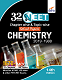 32 Years NEET Chapter-wise & Topic-wise Solved Papers CHEMISTRY (2019 - 1988) 14th Edition
