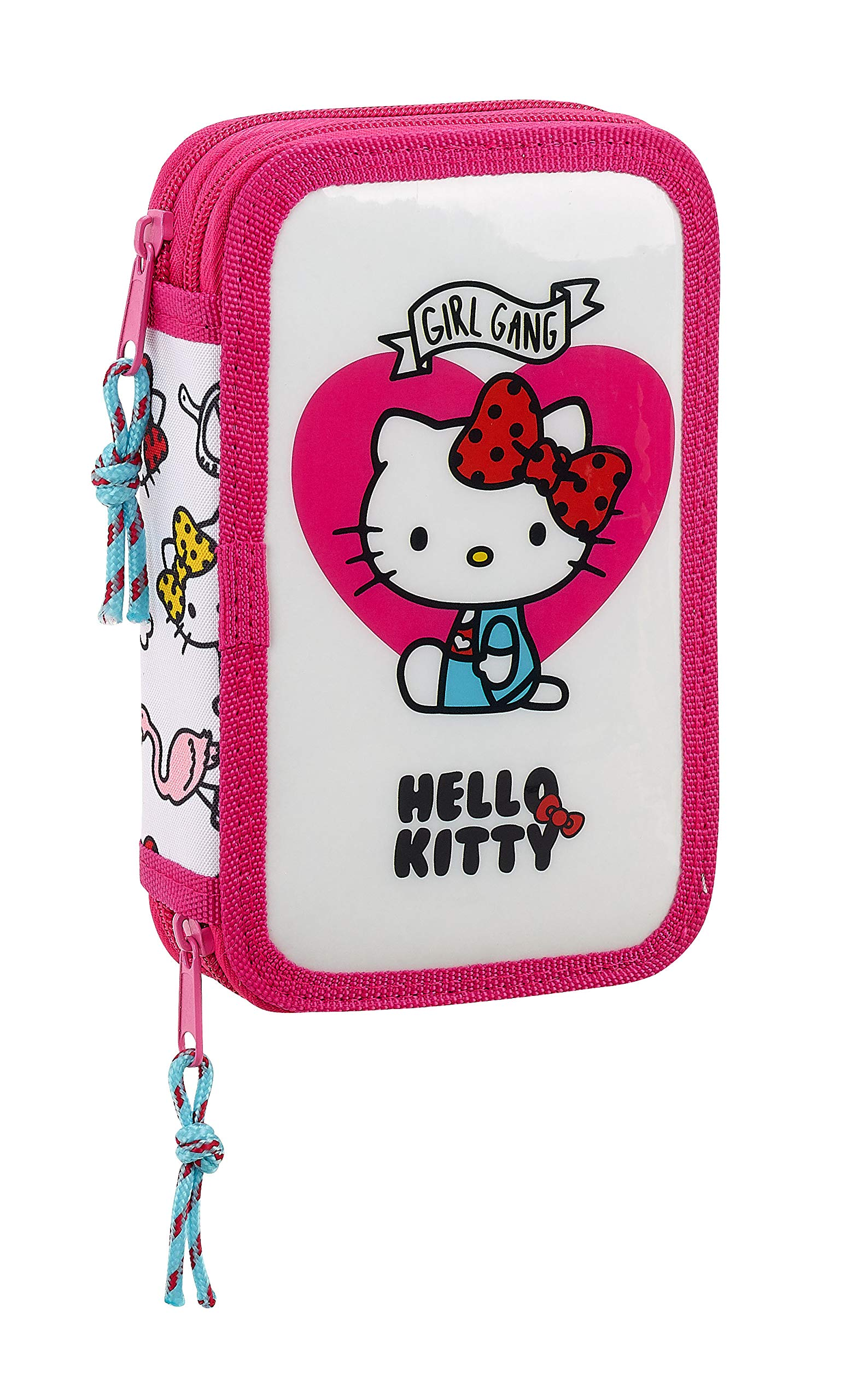 Hello Kitty- Sanrio Estuche con 28 Piezas, Multicolor (SAFTA 411816854)