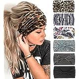 Hoofdbanden voor Vrouwen Brede Boho Bloemen Bloem Leopard Streep Hoofd Sjaaltjes Wraps Yoga Haarbanden Elastische Turbans