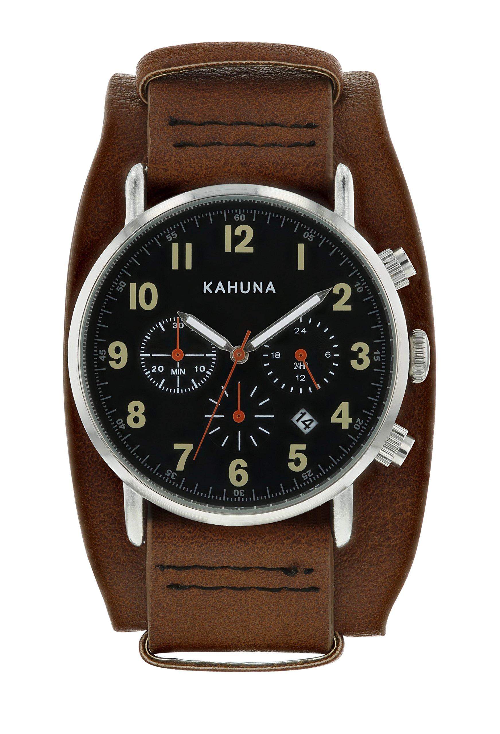 Kahuna Reloj Analógico para Hombre de Cuarzo con Correa en PU AKUC-0060G