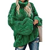 Modasua Donna Maglione Collo Alto Elegante Dolcevita Maglieria Lunghe Invernali Sweater Maglione Allentato da Donna Maglione