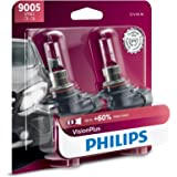 Philips 9005 VisionPlus Upgrade Headlight with up to 60% More Vision, 2 Pack