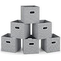 MaidMAX Boîtes de Rangement Ouvertes, Tiroir en Tissu,Cubes de Rangement en Tissu, Pliable Organisateurs conteneurs…