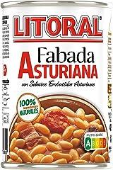 LITORAL Plato Preparado de Fabada, Sin Gluten, 420g