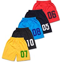 T2F Boys Cotton Shorts (Pack of5)