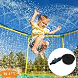 Elikliv Trampoline Sprinkler Hose Outdoor Garden Trampoline Water Park Sprinklers for Kids Fun Summer Water Game Trampoline Accessories for Children Boys Girls Adults 12M//39.4FT