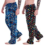 Mens Pack of 2 Retro Games Lounge Pants | Game Over/Controller Designs | Soft Fleece Sleep/Lounge Wear | Gamer Gift Idea - Me