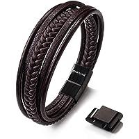 SERASAR | Premium Echtlederarmband für Männer in Schwarz & Braun | Verschiedene Längen | Magnetverschluss aus Edelstahl…