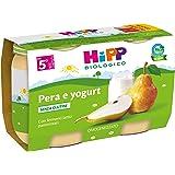 HiPP - Omogeneizzato di Frutta, Gusto Pera e Yogurt, 24 Vasetti da 125 g