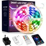LED Strip Lights 15M,Beaeet Music Sync Color Changing LED Strip with App and Remote Controlled,Bluetooth RGB LED Light Strip