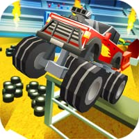 Blocky Monster Truck: Stunts Arena