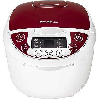 Moulinex MK705111 Multicuiseur Traditionnel 12-en-1 Rouge 5 L