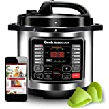Geek Robocook Nuvo Automatic 6 Litre Electric Pressure Cooker with 16 in 1 Function, Feather Touch Preset Menu, Non Stick Pot