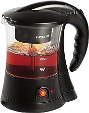 Havells Crystal 600-Watt Stainless Steel Tea and Coffee Maker (Black)