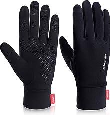 Handschuhe Winter Laufen Touchscreen Leicht Elastisch Sport Gloves Motorrad Fahrrad Herren Damen Winddicht Rutschfest Camping Coskefy Wandern Bergsteigen Outdoor Warm Schwarz Vorwinter Frühling Herbst
