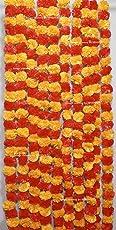 Sphinx Artificial Marigold Fluffy Flowers Garlands(GENDA TORAN) for Decoration - Pack of 5