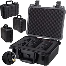 KESSER® Kamerakoffer, unisversal, wasserdicht, Universalkoffer, Outdoor, wetterfester, staubdichter, Koffer, Fotokoffer mit Einlage für Kamera Objektive und Zubehör