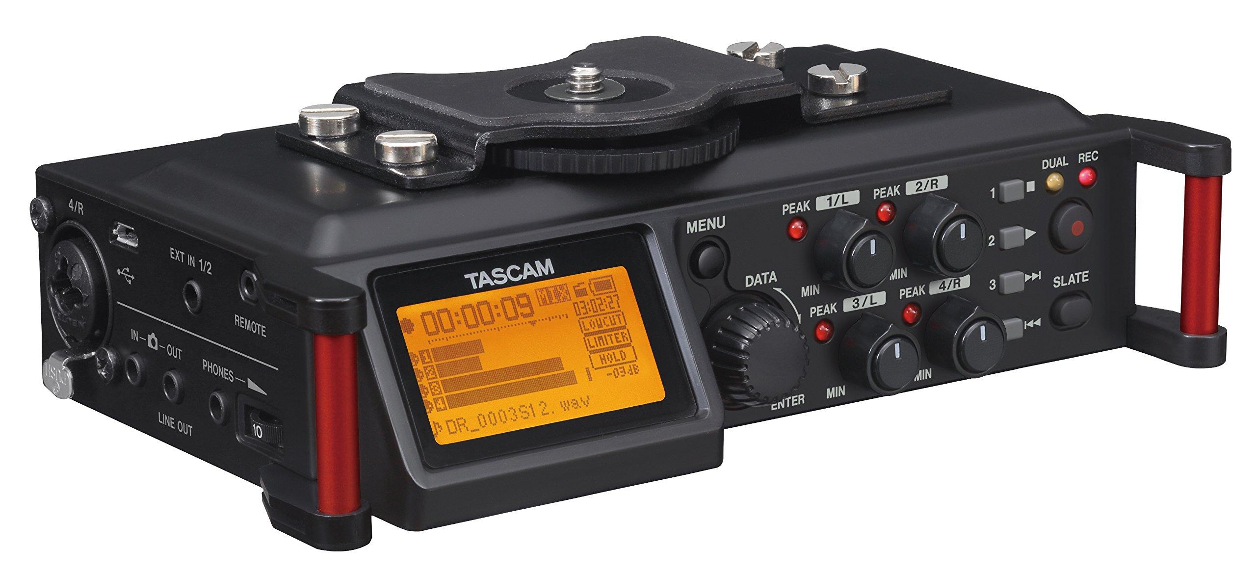 Tascam DR-70D – Enregistreur audio 4 pistes pour appareils reflex numériques (DSLR)