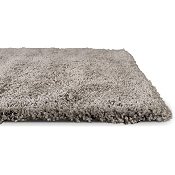 phc shaggy teppich hochflor langflor leicht meliert qualitativ u preiswert uni grau gr sse. Black Bedroom Furniture Sets. Home Design Ideas
