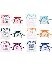 Toddylon Baby Fly Baby Boy's and Baby Girl's Soft Hosiery Cotton T-shirt and Nappy (Multicolour, 0-6 Months) - Combo Pack of 6