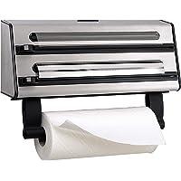 Emsa 5041803positions de coupe IDAB Roller pour écran et rouleau de cuisine, acier inoxydable, argent/noir, Contura