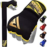 RDX Boxing Hand Wraps Inner Gloves for Punching, Elasticated Padded Bandages under Mitts, Quick Long Wrist Support, Fist…