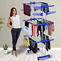 Blastoise Clothes Drying Rack Folding Clothes Rail 3 Tier Clothes Horses Rack Stainless Steel Laundry Garment Dryer…