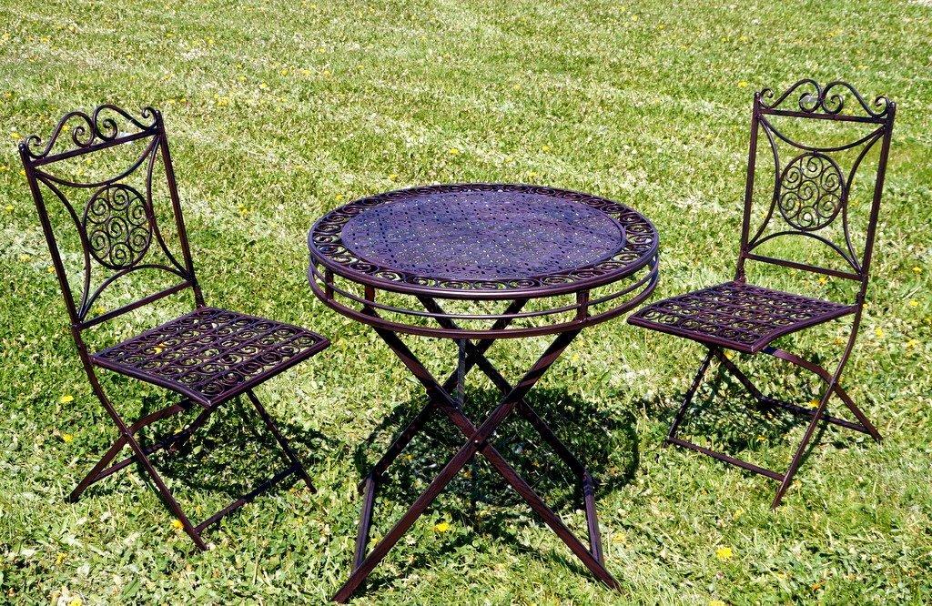 Exklusive Sitzgruppe Santos Gartentisch Mit 2 Stuhlen