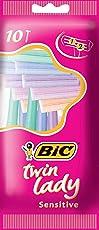 BIC Damen-Rasierer TWIN LADY, 1er Pack (1 x 10 Stück)