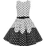 BlackButterfly Niñas 'Amy' Vestido de Lunares Vintage Años 50
