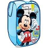 Superdiver Cesta plegable infantil de tela con asas para ropa sucia y juguetes, diseño Mickey Mouse de Disney 36x36x58 centím
