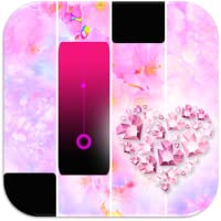 Pink Diamond Heart Magic Tiles Piano
