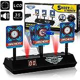 swonuk Objetivo de Puntuación Automática, Target Electrónico Objetivo de Tiro Digital Dianas para Nerf Elite / Mega / Rival S