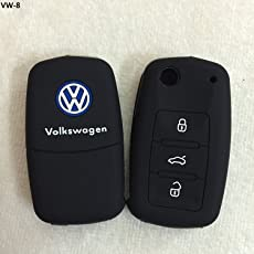 Driversion Silicone Flip Key Cover for Volkswagen Polo/Vento / Jetta/Passat Flip Keys (VW 3 Button Flip Keys)