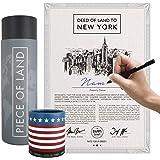 happylandgifts® Edition 2020 - Echtes New York Grundstück als einzigartiges Geschenk für New York und USA Fans | Besitzurkund