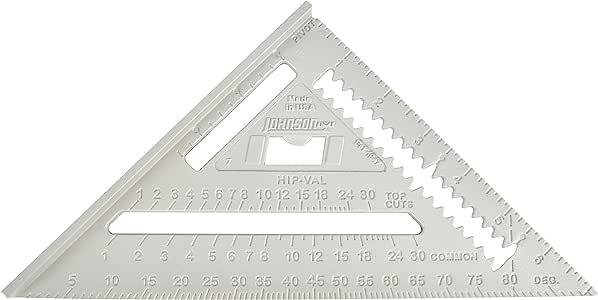Johnson Level & Tool Dachsparren-Messwinkel, RAS-1, 7 Zoll-Skala, Aluminium, rechter Winkel