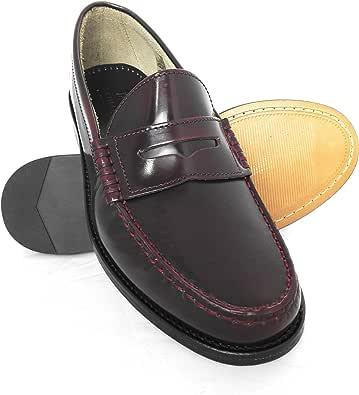 Zerimar Scarpe Classic Pelle Naturale Premium | Scarpe da Uomo in Pelle | Mocassini Scarpe Uomo | Mocassini in Cuoio Uomo | Mocassino Scarpa Antifaz