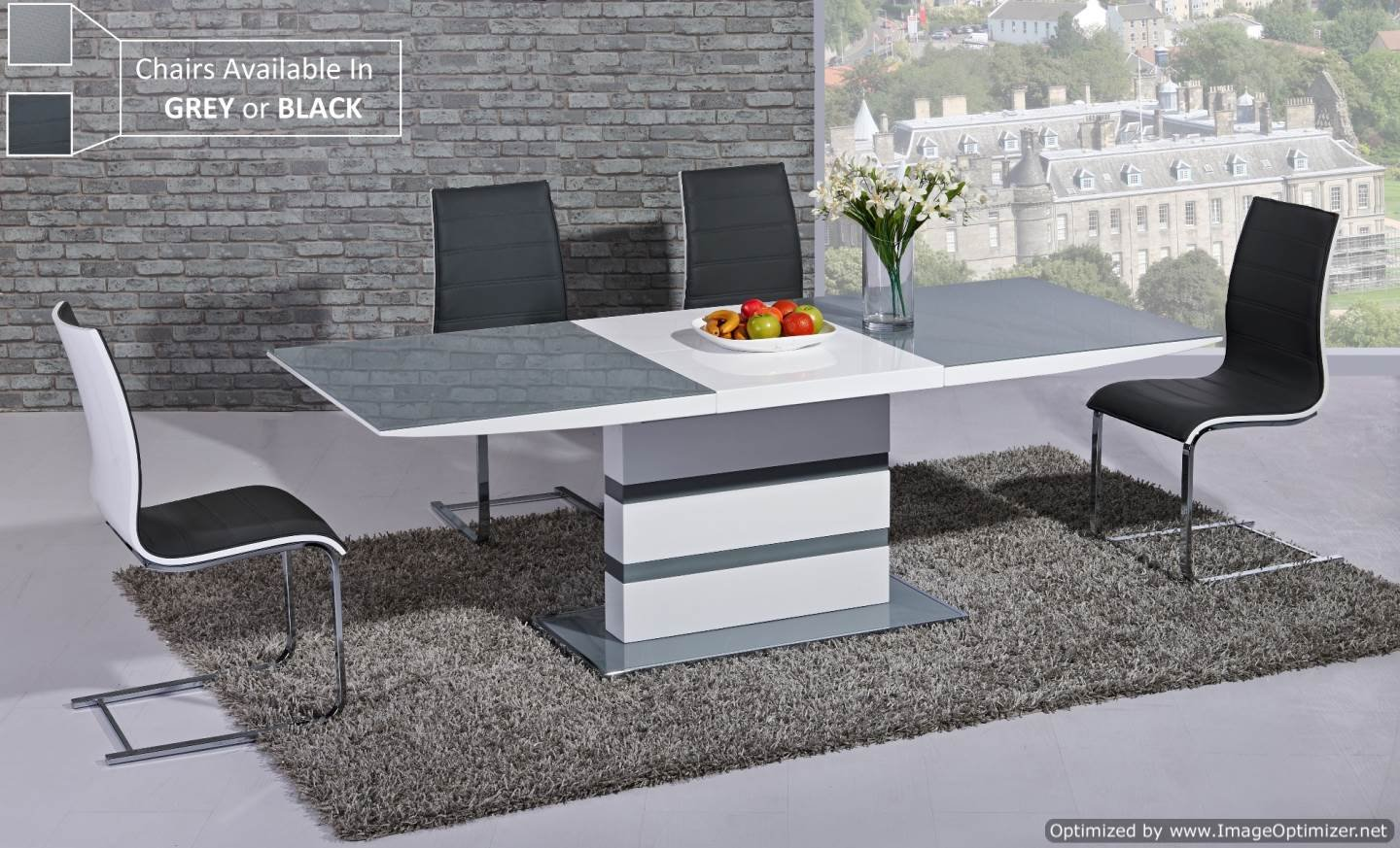 arctic extending dining table in grey from giatalia  extending  - arctic extending dining table in grey from giatalia  extending function very stylish  contemporary italian dining amazoncouk kitchen  home
