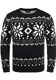 !Solid Norwig Herren Weihnachtspullover Norweger-Pullover Winter Strickpullover Grobstrick Pullover mit Rundhalsausschnitt